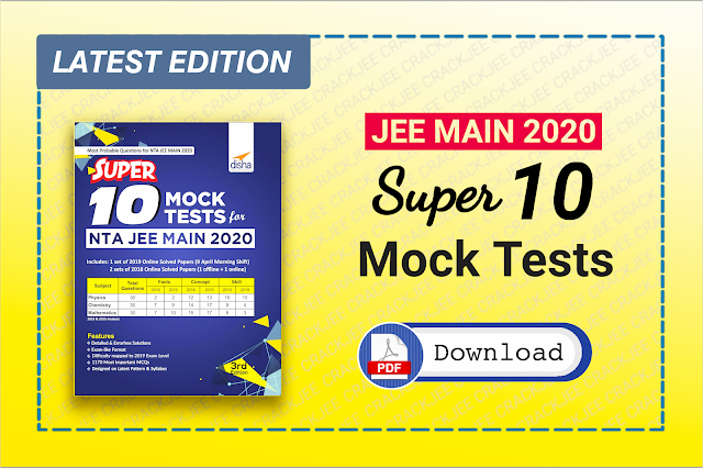 Download Disha NTA JEE Main Super 10 Mock Tests ebook Pdf