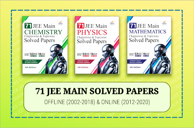 Disha PCM 71 JEE Main Offline+Online Solved Papers from 2002 to 2020 Book Pdf